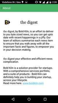 The Digest - Bite Sized News apk screenshot