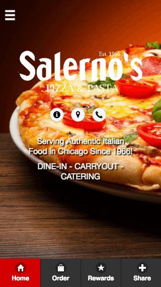 Salerno's Pizza poster