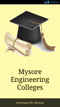 Mysore Engineering Colleges poster