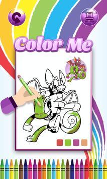 Coloring game for Yooka Laylee apk screenshot
