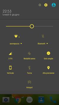 Material Yellow Lemon CM Theme apk screenshot