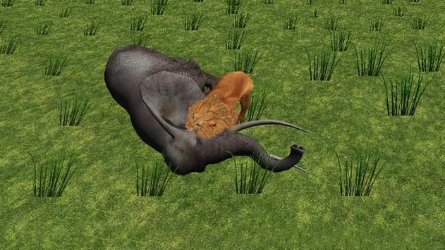 Real Angry Lion attack Free apk screenshot