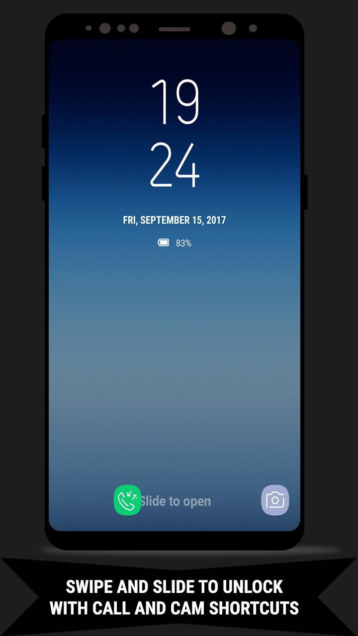 Lock Screen Galaxy Note8 Dualclock Theme Wallpaper For