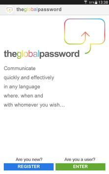 Theglobalpassword apk screenshot