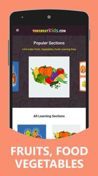 Fruits and Vegetables for Kids poster