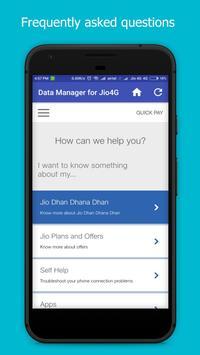 Data Manager for Jio :Check Jio Data Balance,Usage screenshot 3