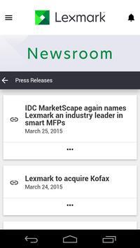 Lexmark Newsroom screenshot 1