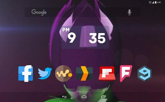 Metallic Purple Lotus Live WP apk screenshot