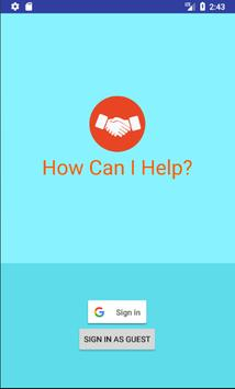 How can I help? - Solve problems in your community poster