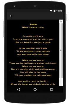 The London Suede New Lyrics apk screenshot