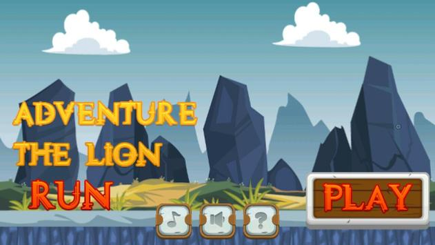 adventure the lion run poster