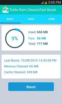 Fastest Ram Booster,cleaner screenshot 1