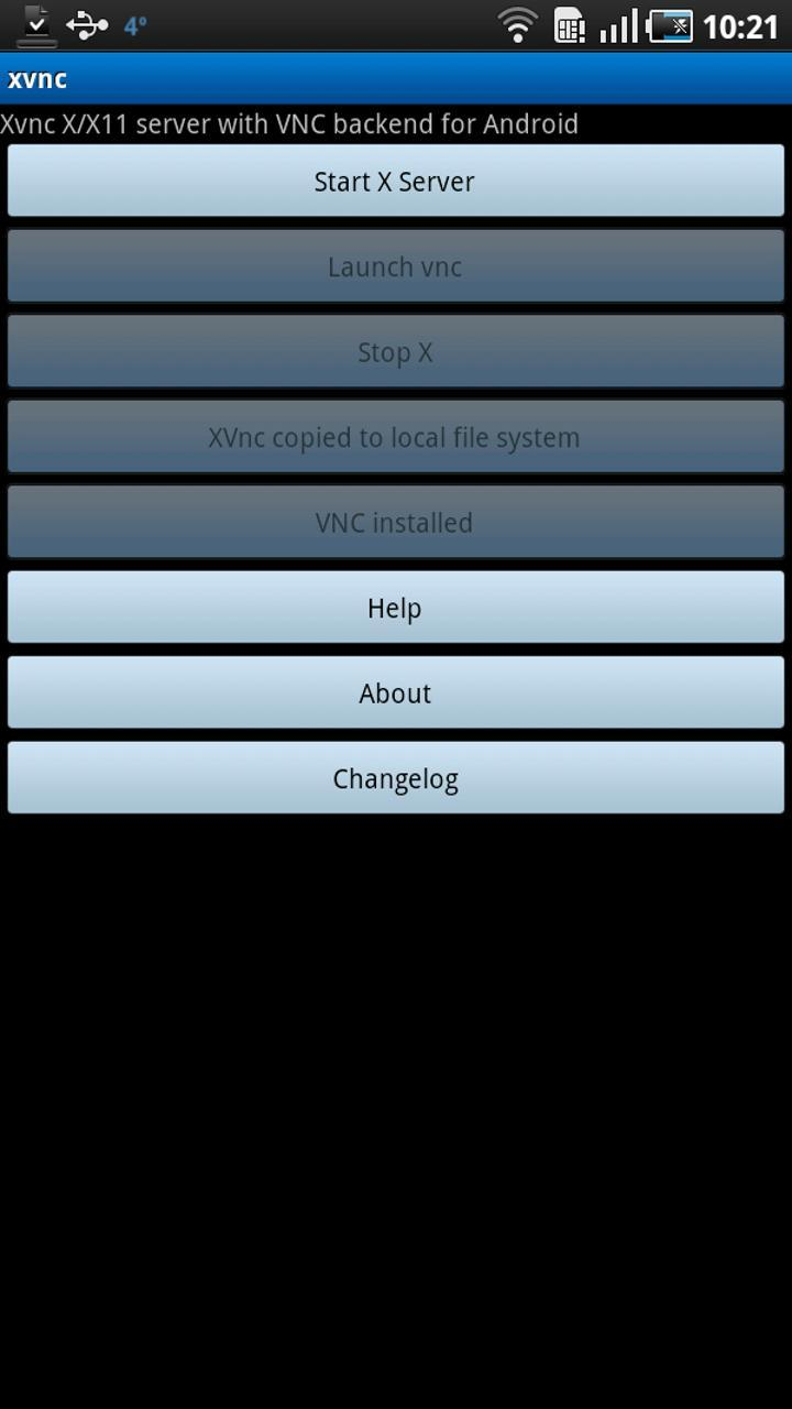Xvnc:X/X11 server w VNC backnd for Android - APK Download