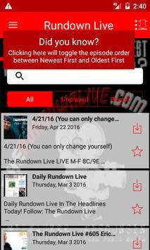 The Rundown Live apk screenshot