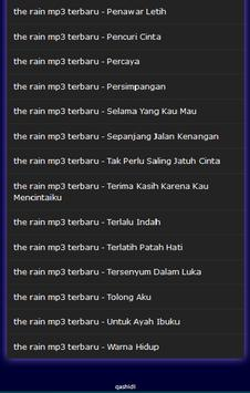 the rain mp3 terbaru screenshot 3
