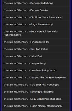 the rain mp3 terbaru screenshot 12