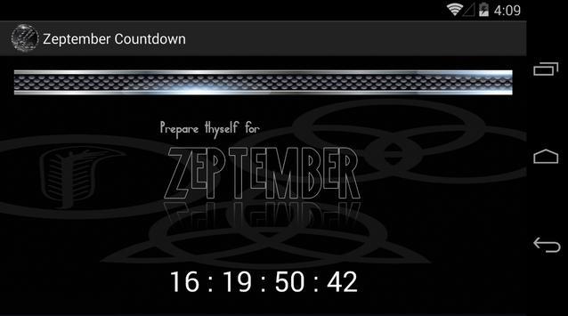 Zeptember Countdown screenshot 1