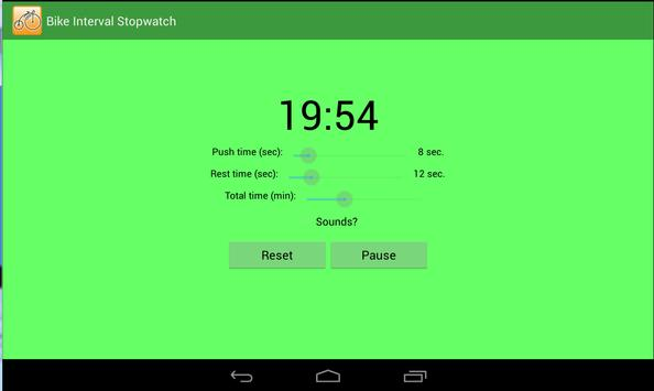 Bike Interval Stopwatch screenshot 1