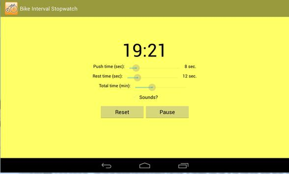 Bike Interval Stopwatch screenshot 2