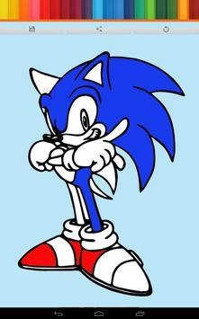 Coloring Speed Hedgehog Kids apk screenshot