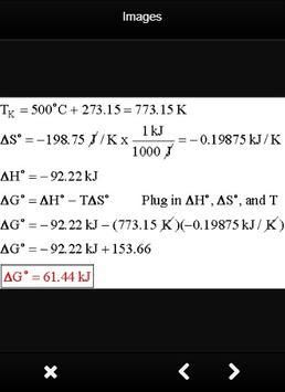 Thermodynamics Formulas Chemistry poster