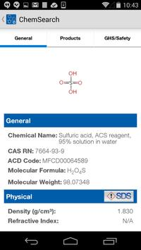 ChemSearch apk screenshot