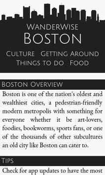 WanderWise Boston poster