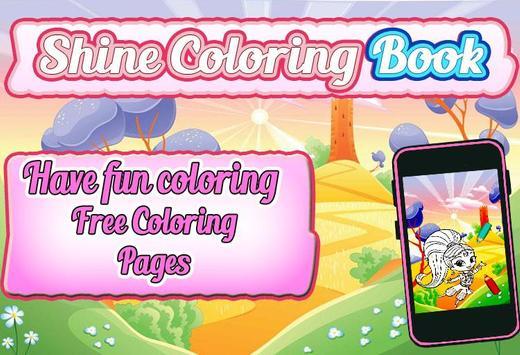 Shine Coloring Book Poster Apk Screenshot
