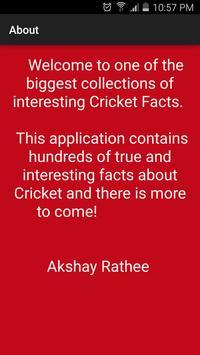 Cricket Facts apk screenshot