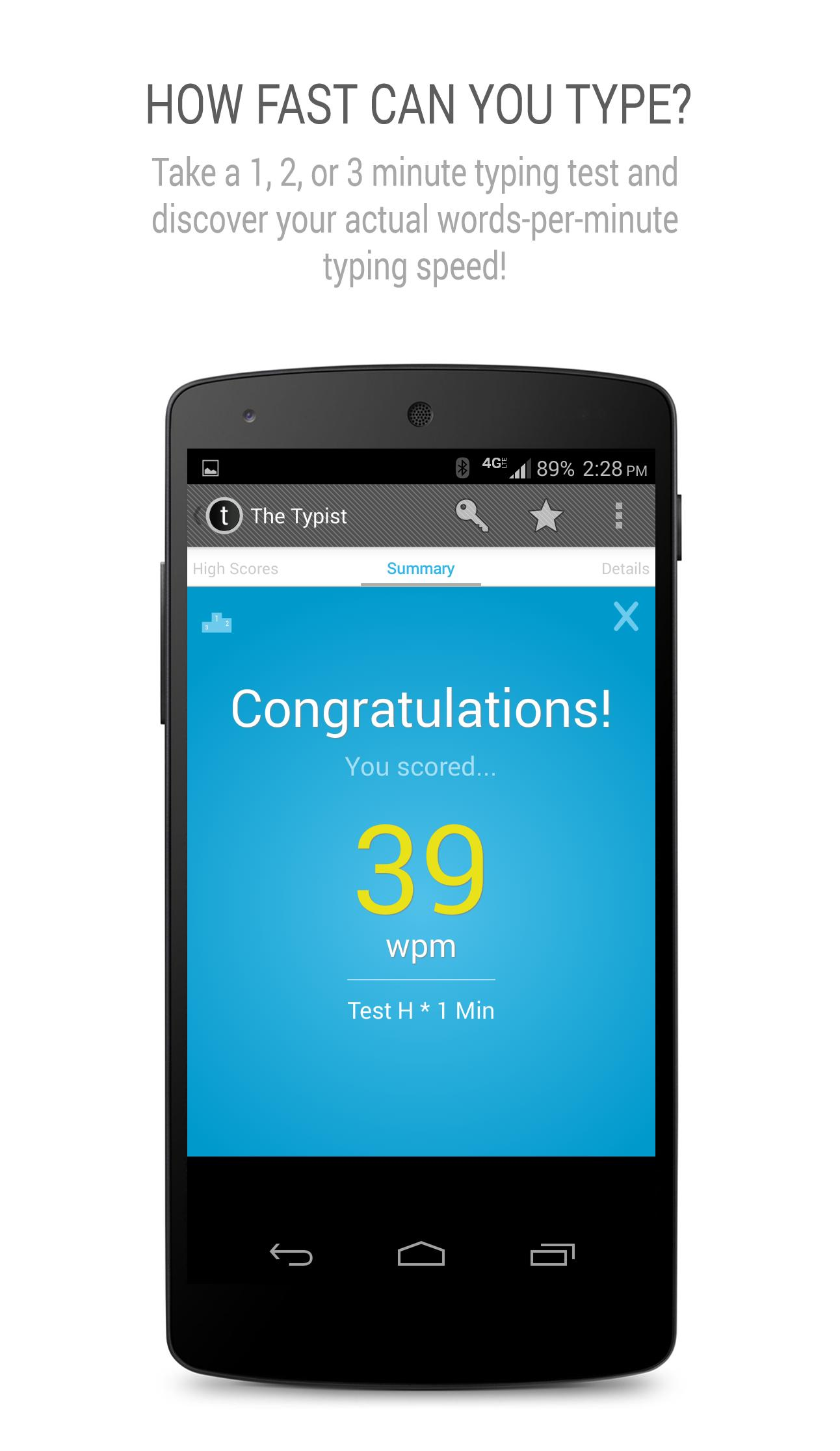 Typist: A Quick Typing Test for Android - APK Download