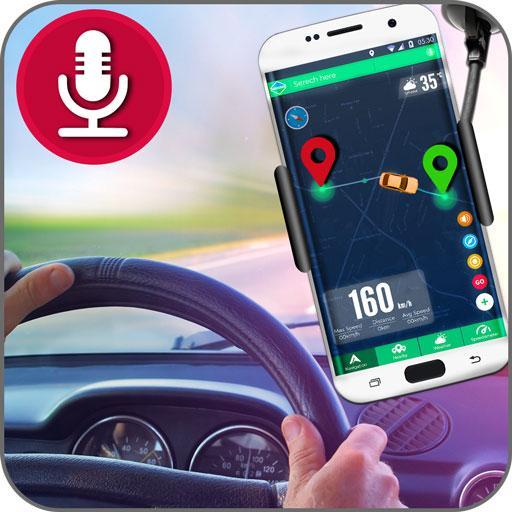 Voice GPS Navigationskarten: HUD Tacho