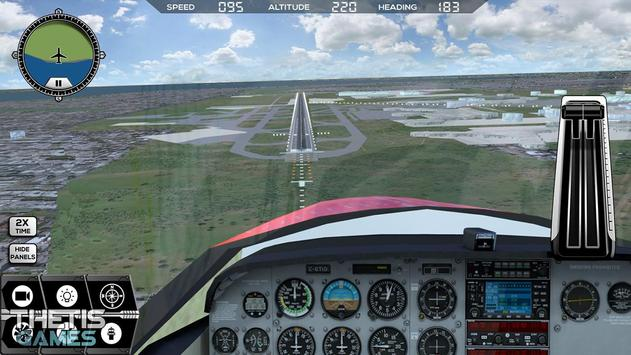 Flight Simulator 2017 FlyWings Free screenshot 1