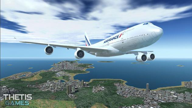 Flight Simulator 2017 FlyWings Free screenshot 9