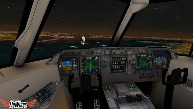 Flight Simulator Night NY Free screenshot 10