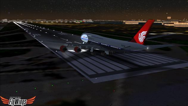 Flight Simulator Night NY Free screenshot 11