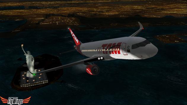 Flight Simulator Night NY Free screenshot 15