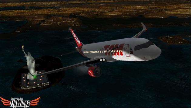 Flight Simulator Night NY Free screenshot 23