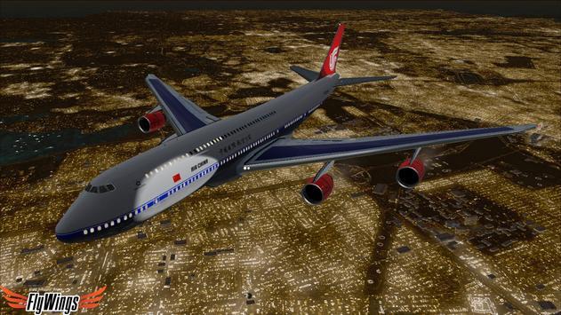 Flight Simulator Night NY Free screenshot 8