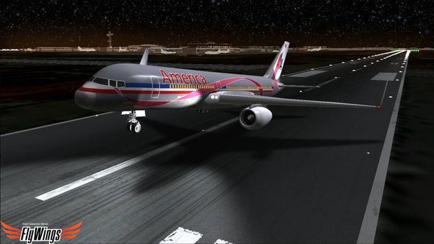 Flight Simulator Night NY Free screenshot 9