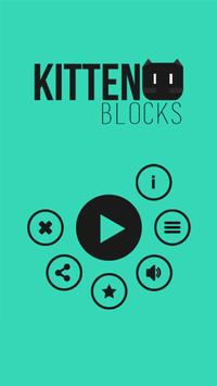 Kitten Blocks Puzzle Game poster