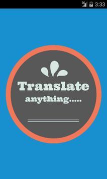 Irish English Translator poster