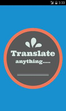 Serbo-Croatian Eng Translator poster