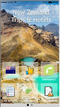 New Zealand Trips & Hotels poster