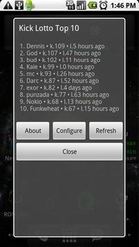 #TheZone Kick Stats Widget apk screenshot