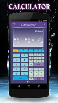 Fraction calculator poster