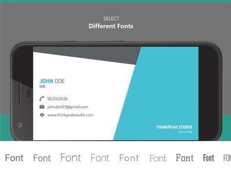 Business Card Creator apk screenshot