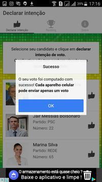 Intenções de votos - 2018 apk screenshot