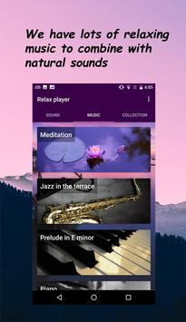 Relax player: Natural sounds and relaxing music apk screenshot