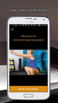 30 Day Air Squat Challenge poster