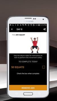 30 Day Air Squat Challenge screenshot 4